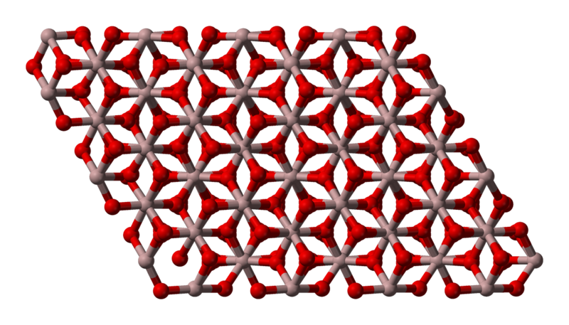 Aluminum oxide lattice diagram
